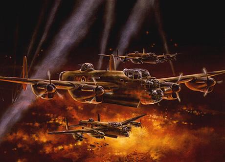 Lowe Wes. Бомбардировщики Avro Lancasters.