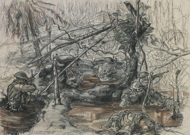 Hodgkinson Roy. Бои в Новой Гвинеи.