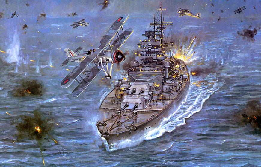 Godines Henry. Атака на линкор «Bismarck».