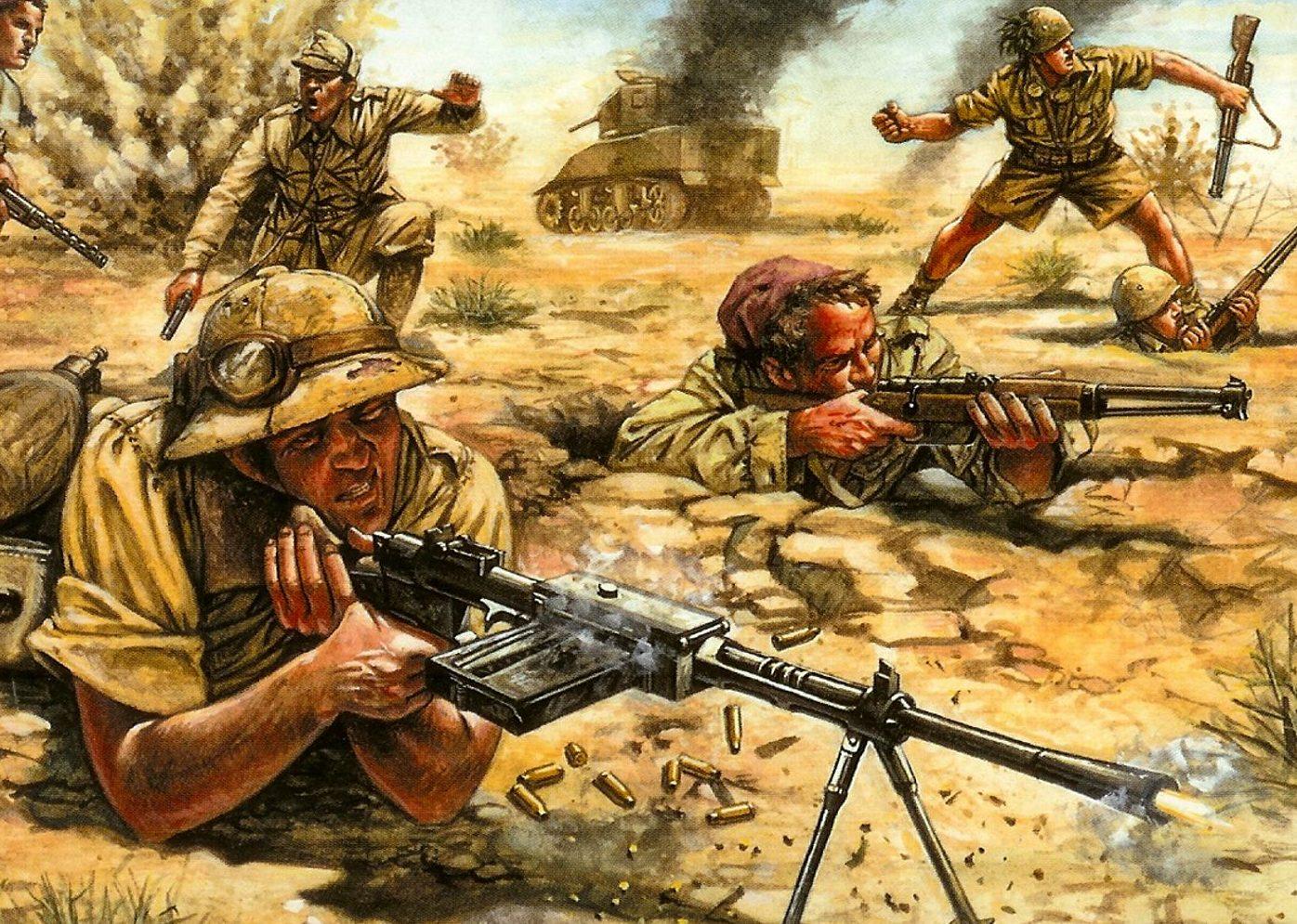 Rava Giuseppe. Итальянская пехота в Ливии.