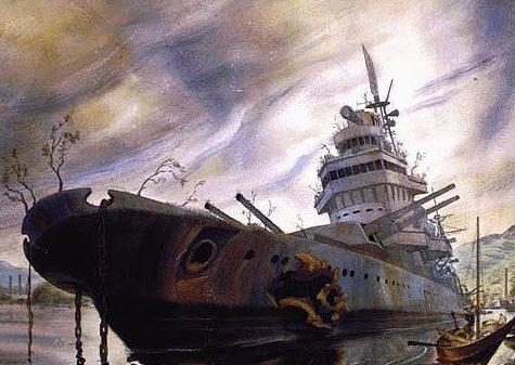 Backus Standish. Крейсер «Aoba» на мели.