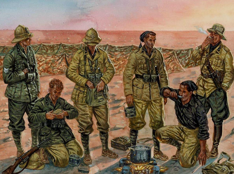 Rava Giuseppe. Чернорубашечники в Ливии.