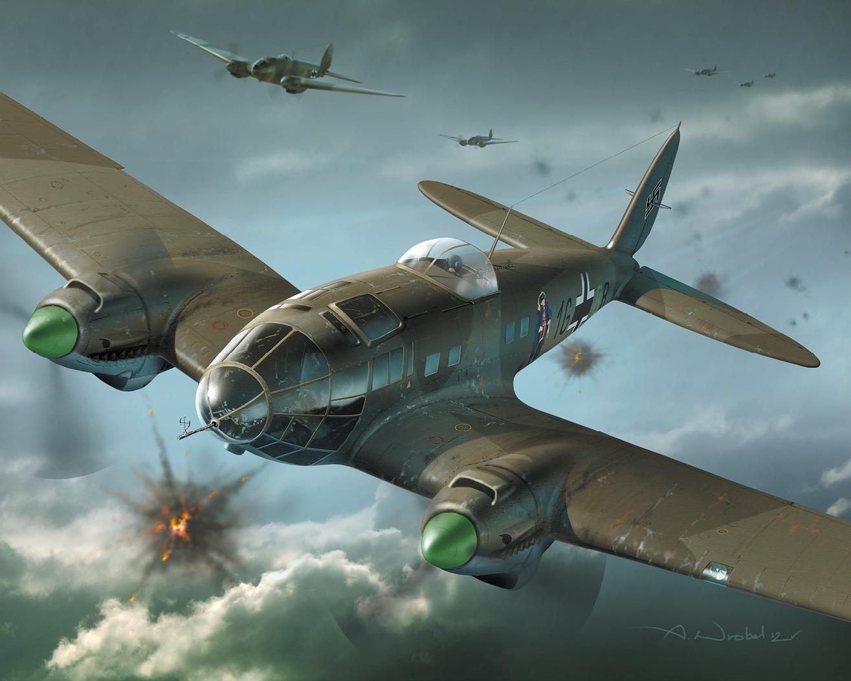 Wróbel Arkadiusz. Бомбардировщик He-111.