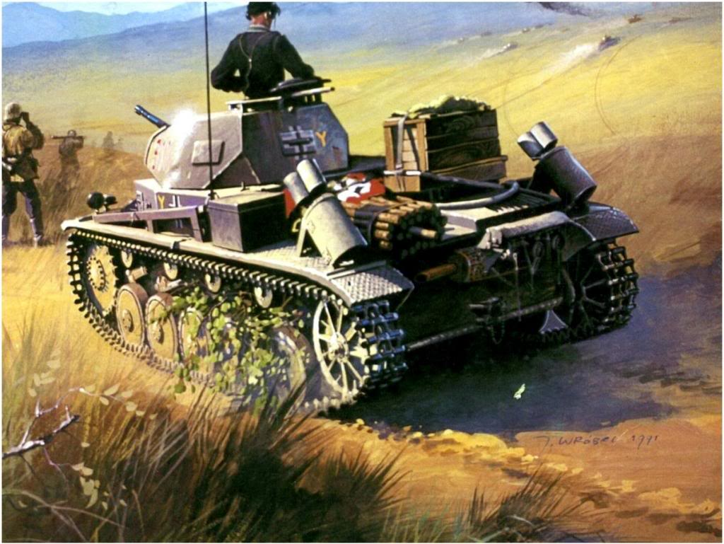Wrobel Jaroslaw. Танк Panzer II Flammpanzer.