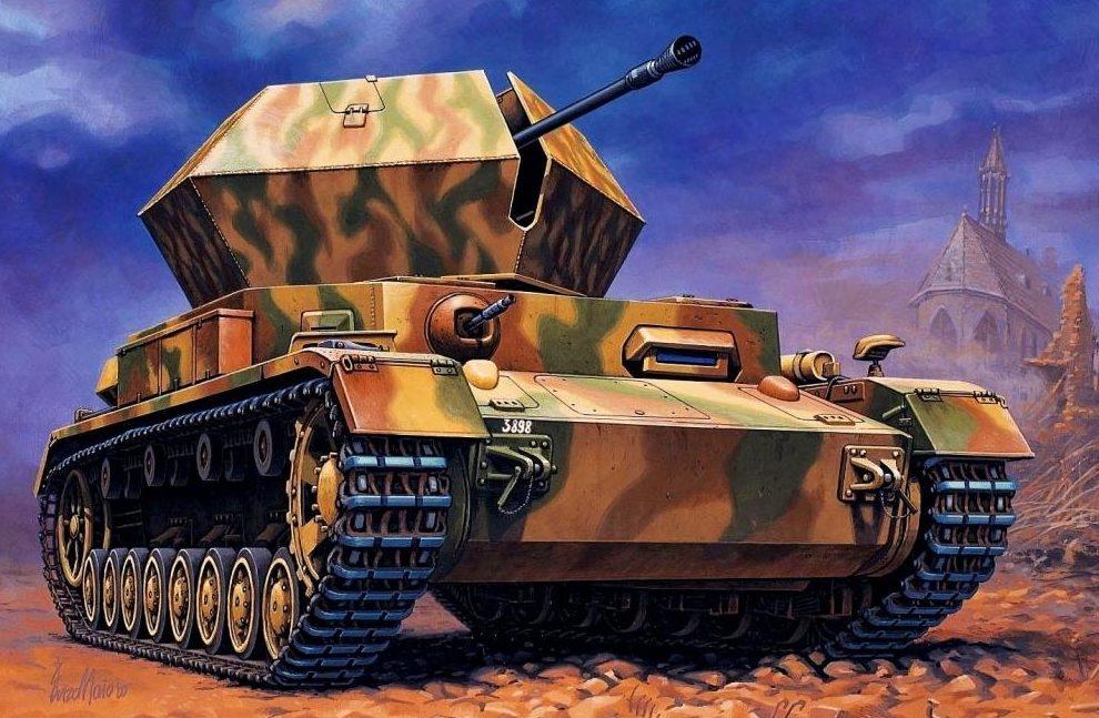 Maio Enzo. ЗСУ Flakpanzer IV 37mm Ostwind.