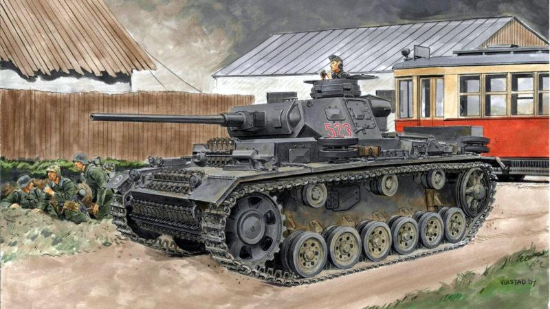 Volstad Ronald. Танк Panzer III Ausf J с 50-мм орудием KwK L60.