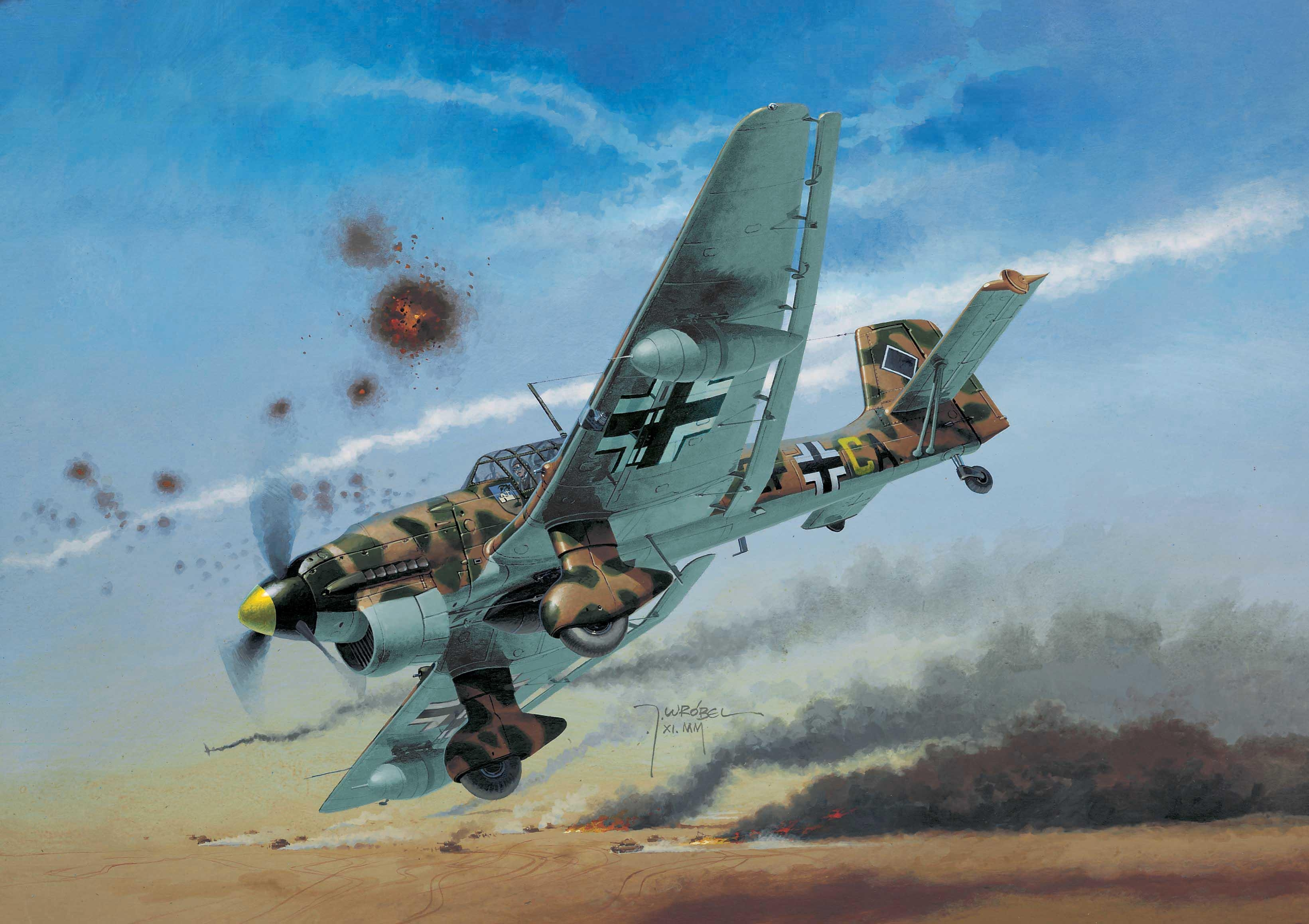 Wróbel Arkadiusz. Бомбардировщик Junkers Ju-87.