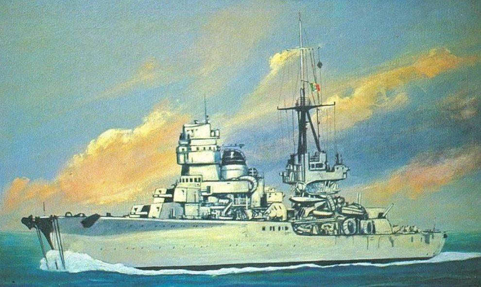Parducci Alberto. Легкий крейсер «Duca d'Aosta».