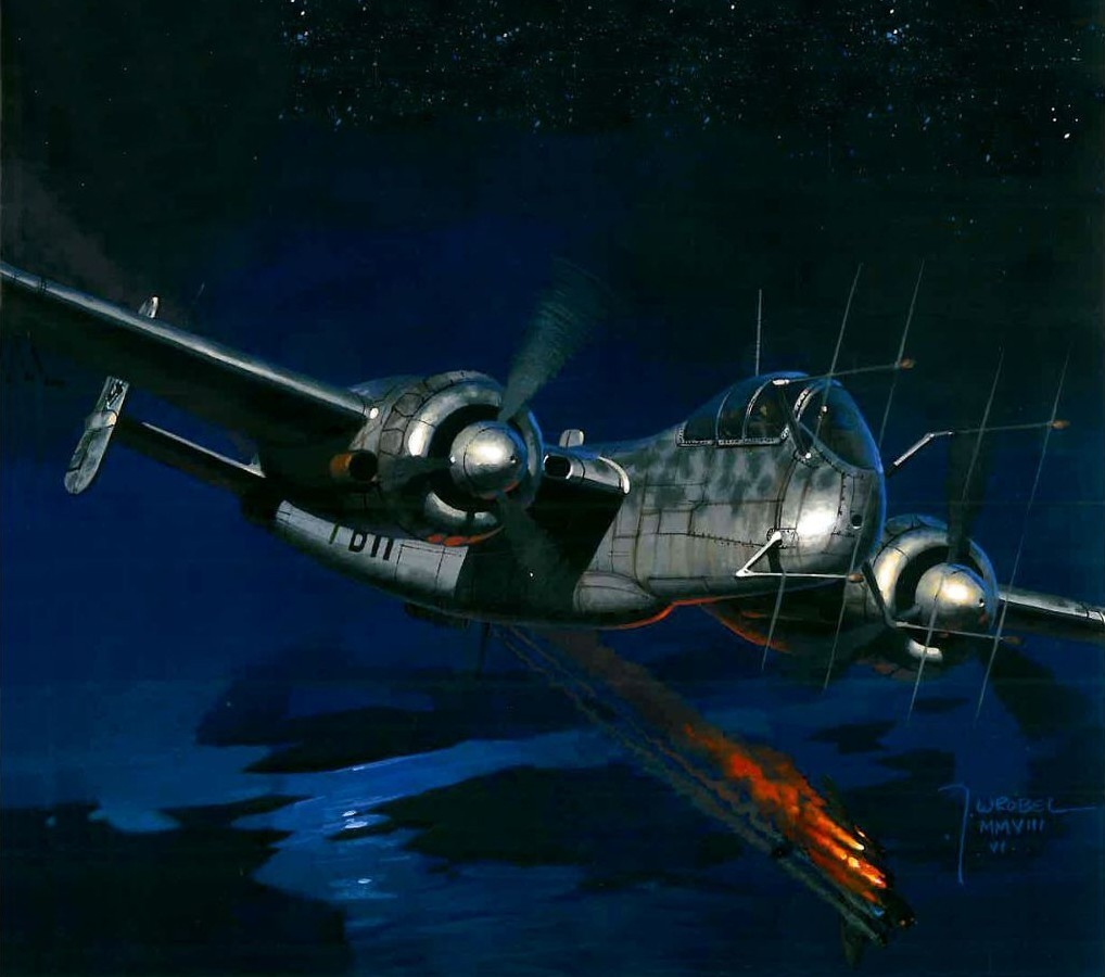 Wrobel Jaroslaw. Ночной истребитель He-219 A-2.