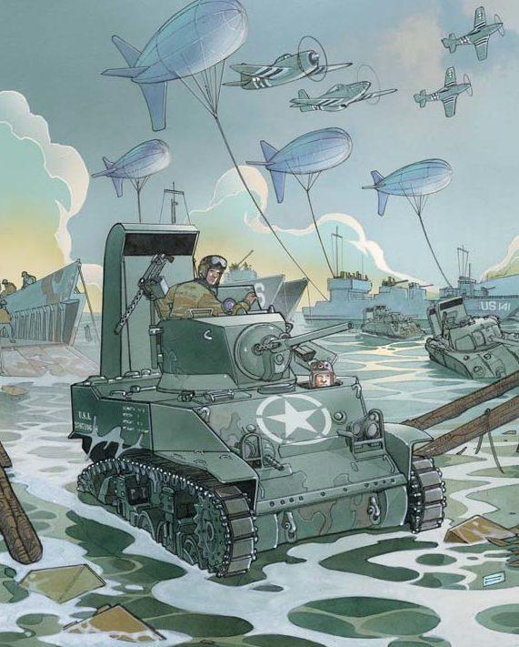 Fabbri Davide. Высадка десанта в Нормандии.