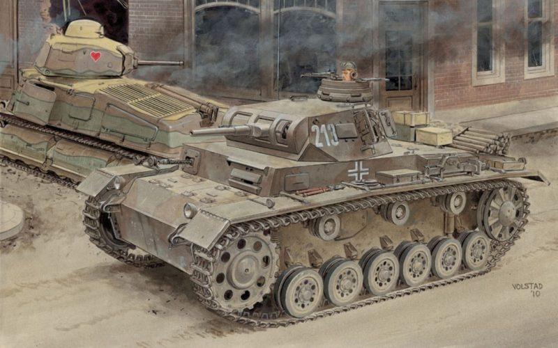 Volstad Ronald. Танк PzKpfw III Ausf E.