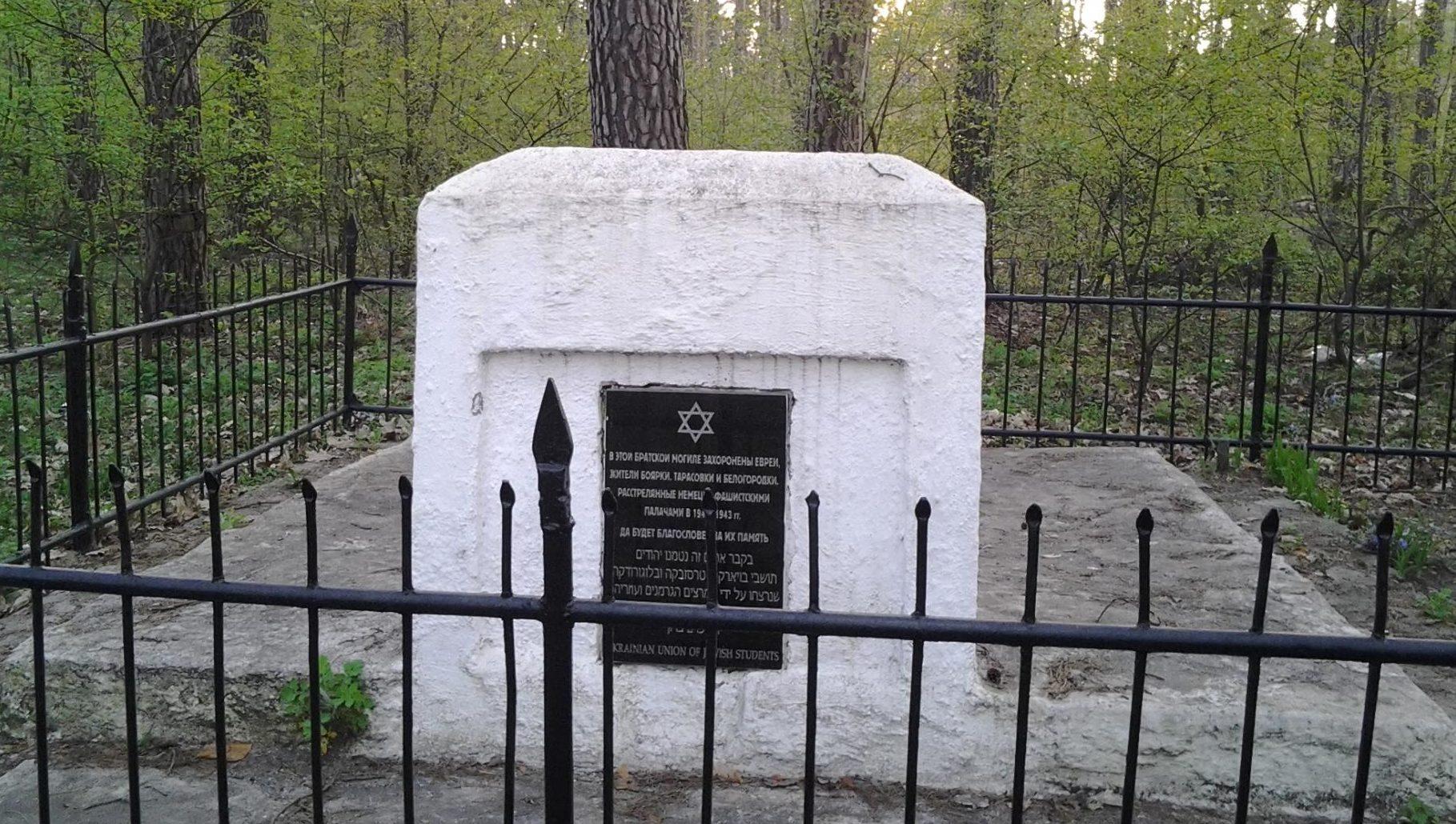 г. Боярка Киево-Святошинского р-на. Братская могила евреев - жителей Боярки и соседних населенных пунктов, расстрелянных фашистами в годы войны.