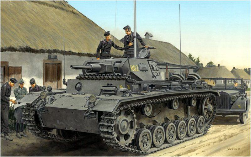 Volstad Ronald. Танк PzKpfw III Ausf H.