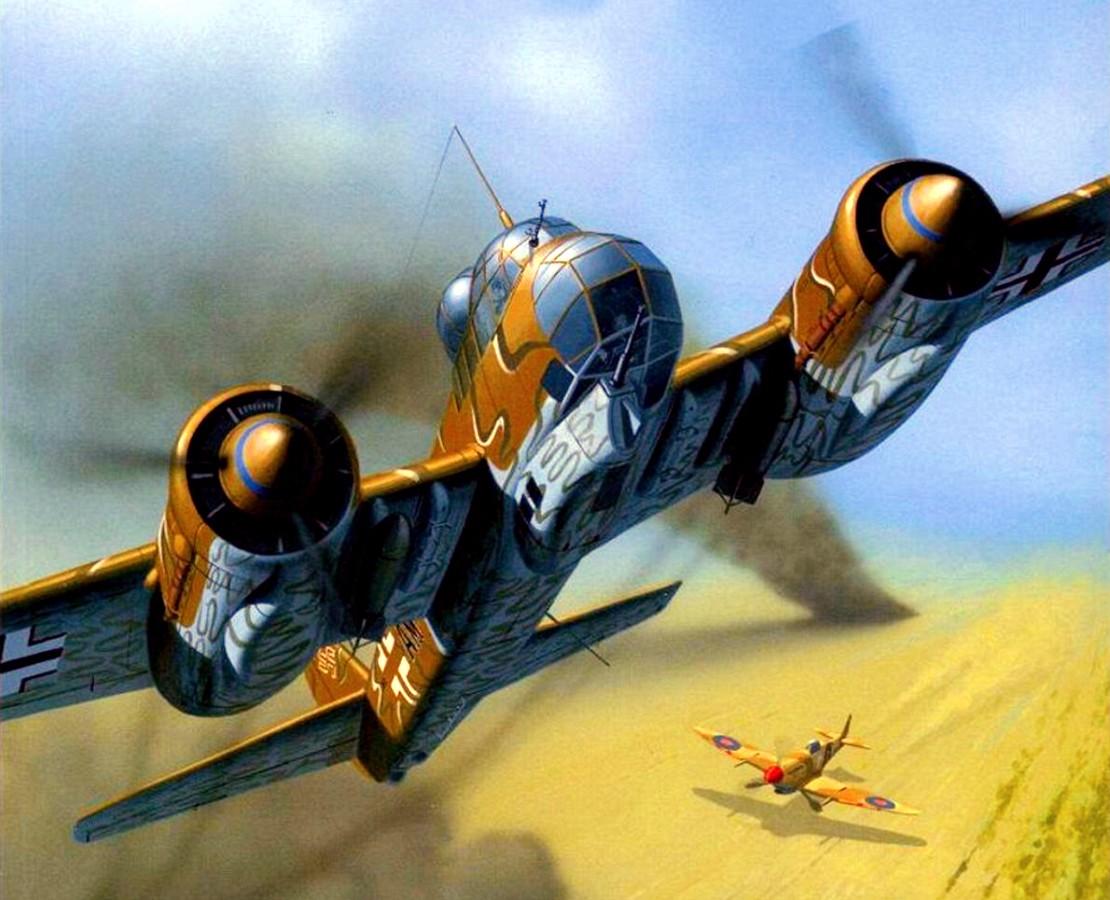 Wróbel Arkadiusz. Бомбардировщик Ju-88.
