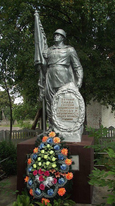 с. Плахтянка Макаровского р-на. Памятник воинам, погибшим в годы войны.