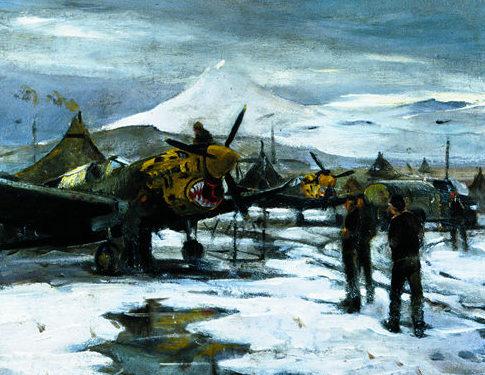 Draper William. Аэродром зимой.