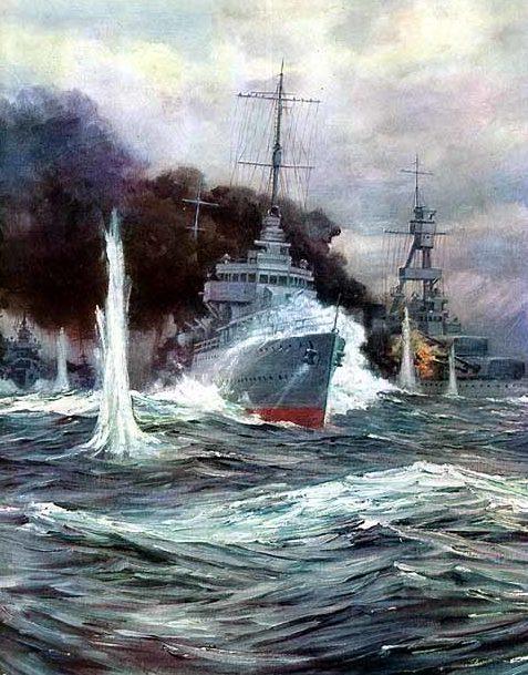 Fischer Anton Otto. Морской бой.