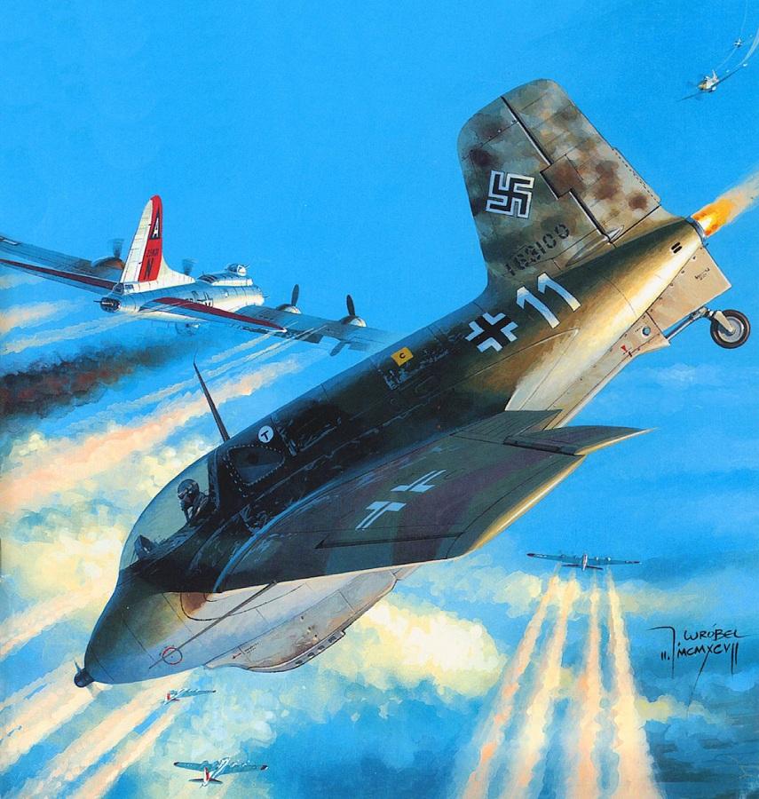Wrobel Jaroslaw. Реактивный истребитель Ме-163В.