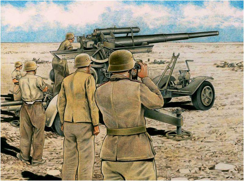 Ruggeri Raffaele. Зенитное орудие 8.8cm Flak 36.