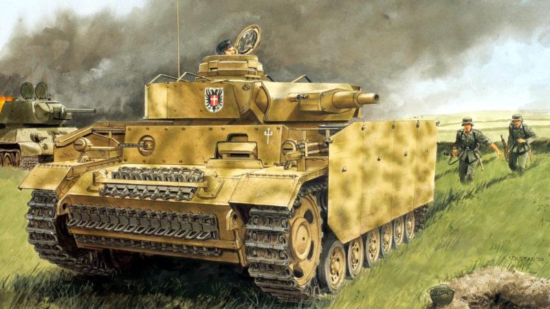 Volstad Ronald. Танк Panzer III N. Курск, 1943 г.