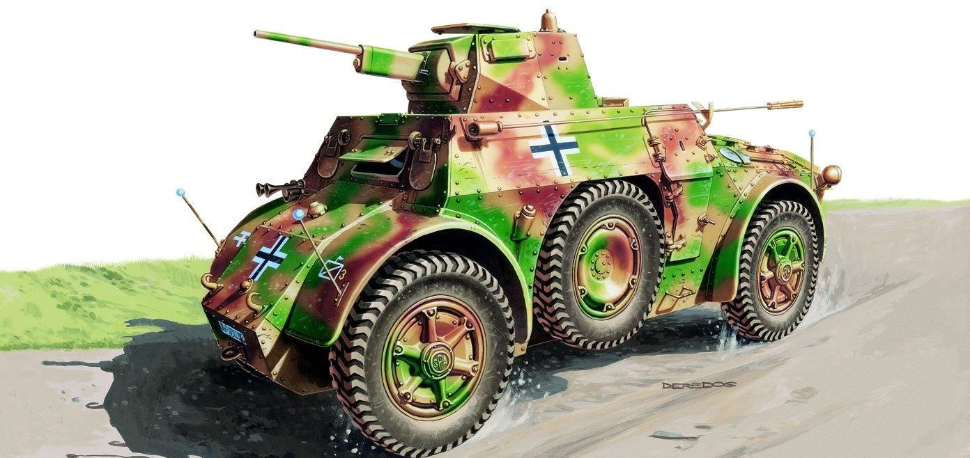 Deredos Andrzej. Бронеавтомобиль Autoblinda AB-41.
