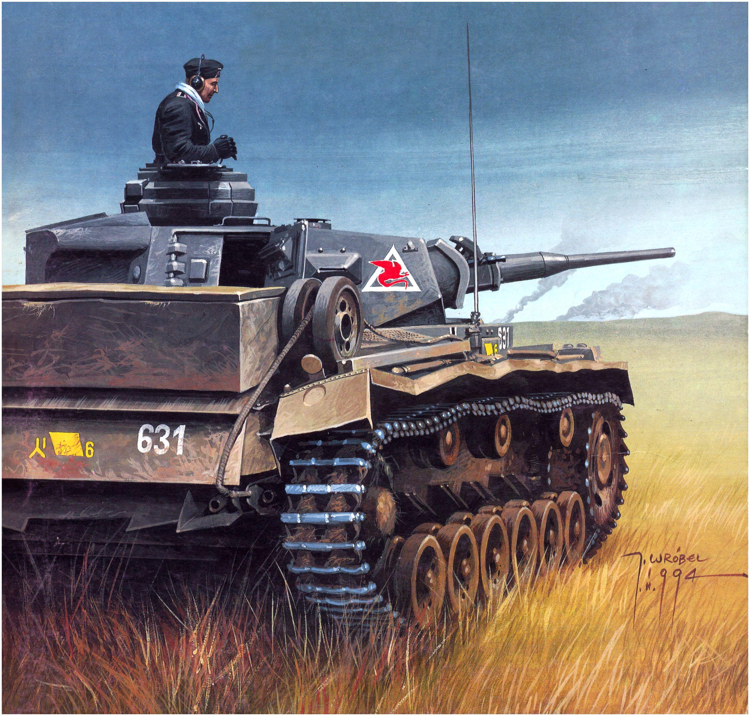 Wrobel Jaroslaw. Танк Panzer III Ausf. J.