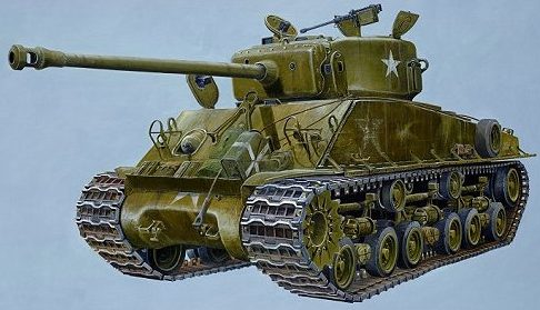 Wilson Randall. Танк Sherman M4 A3.