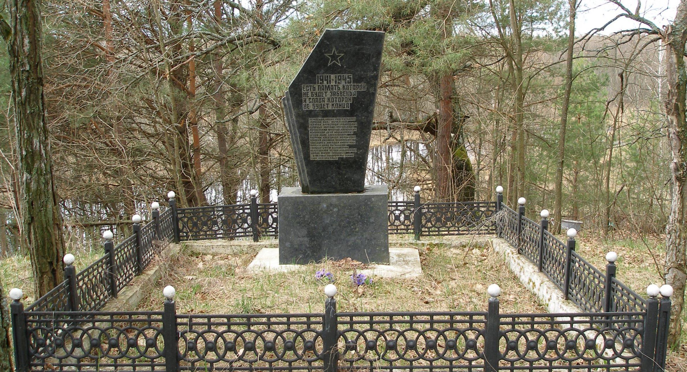 с. Кошовка, Чернобыльская зона отчуждения. Братская могила погибших воинов.