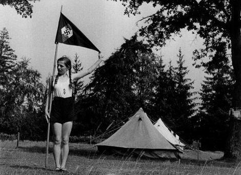 Лагерь Союза девочек.