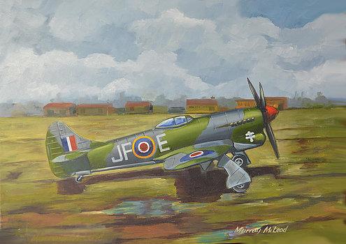McLeod Murray. Истребитель Hawker Tempest.