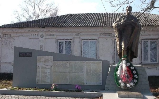 с. Вита-Почтовая Киево-Святошинского р-на. Памятник погибшим односельчанам.