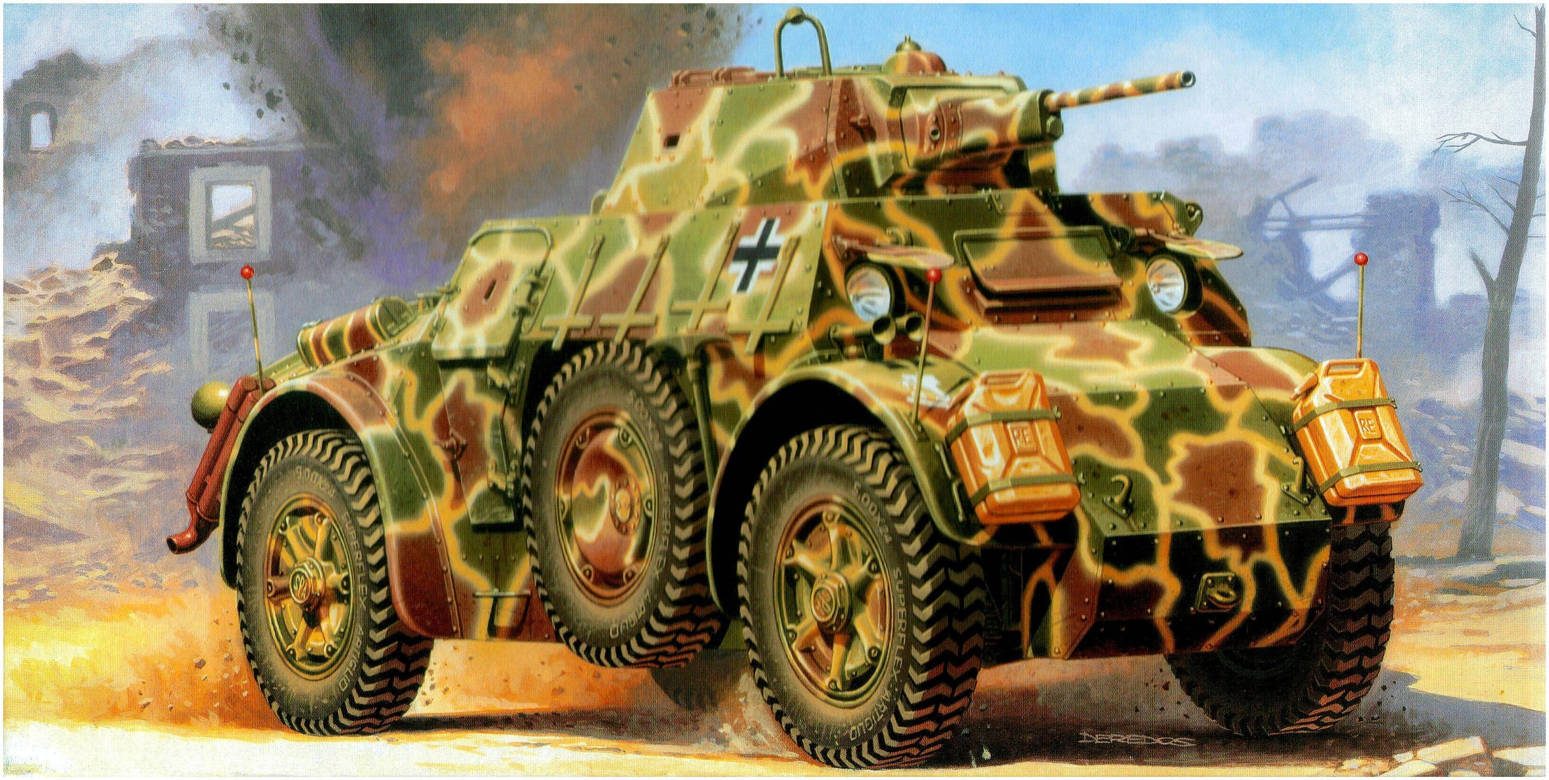 Deredos Andrzej. Бронеавтомобиль Autoblinda AB-43.