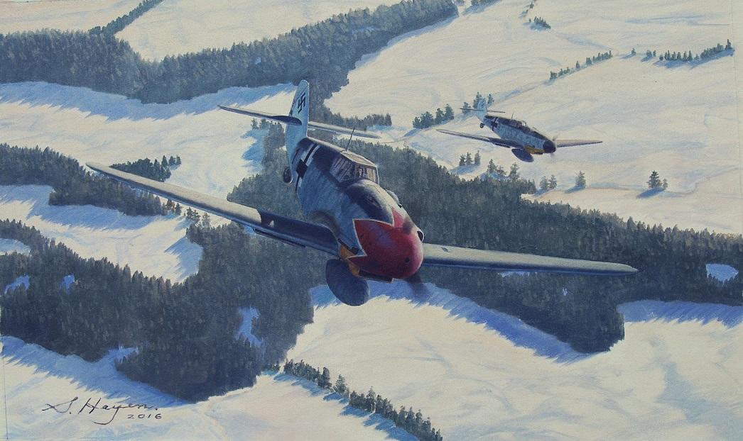 Heyen Steven. Истребитель Bf-109.