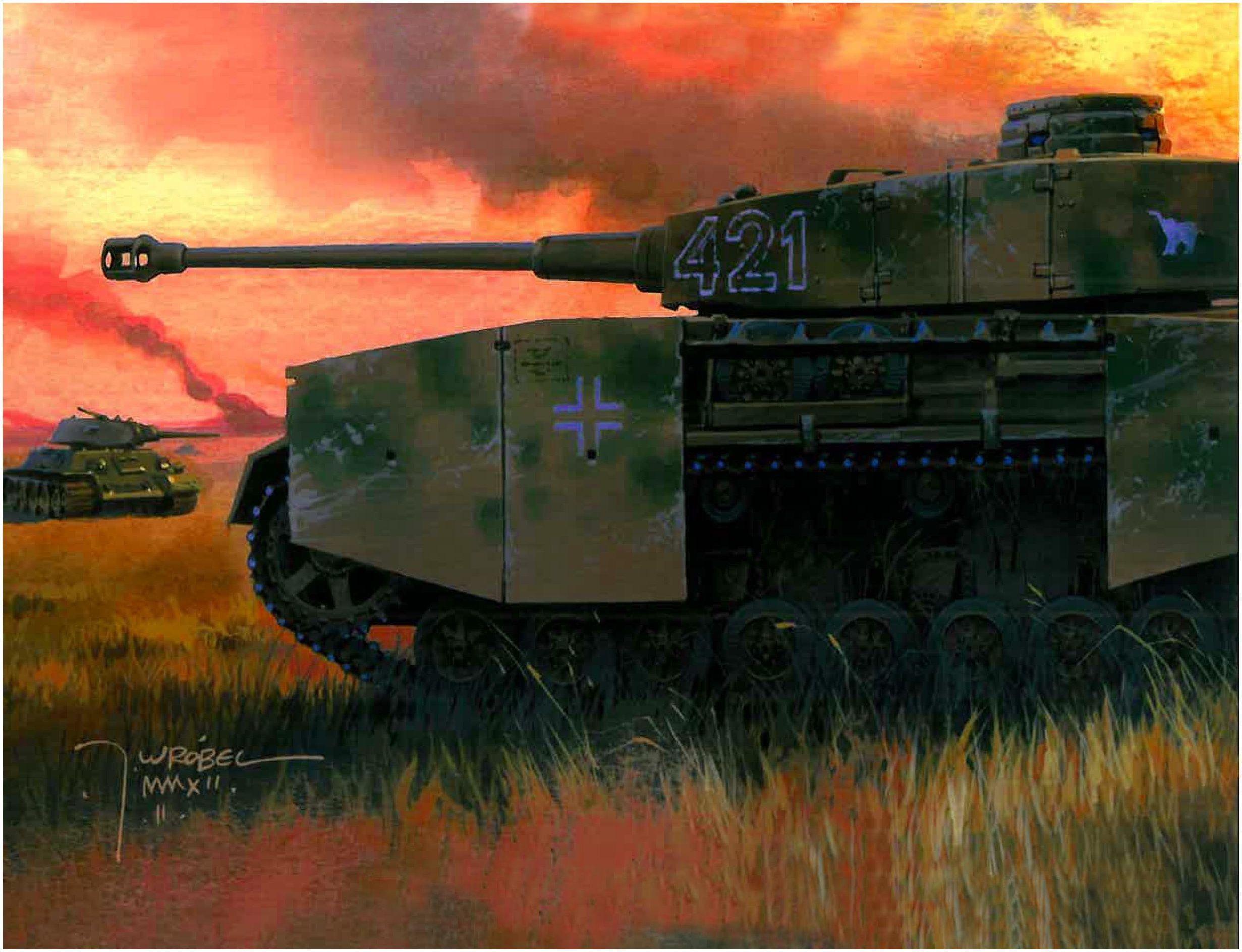 Wrobel Jaroslaw. Танк Panzer IV Ausf. H.