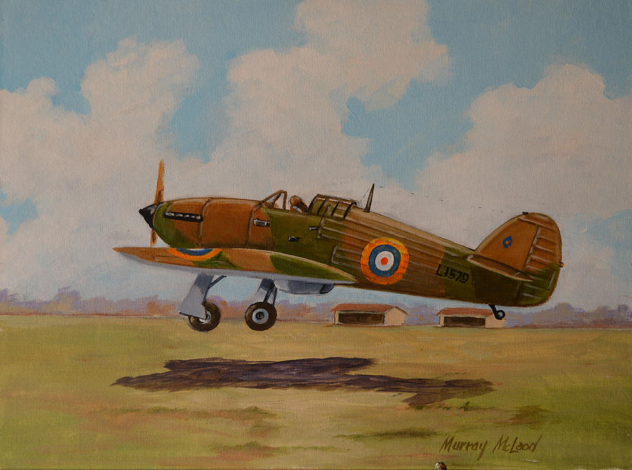 McLeod Murray. Истребитель Hawker Hurricane.