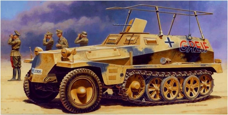 Deredos Andrzej. Бронеавтомобиль Sd.Kfz. 250-3 Greif.