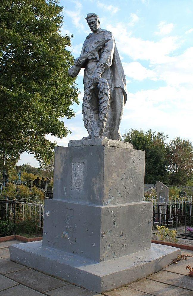 г. Березань Бориспольского р-на. Памятник на кладбище по улице Садовой на месте захоронения погибших воинов, был установлен в 1952 году.