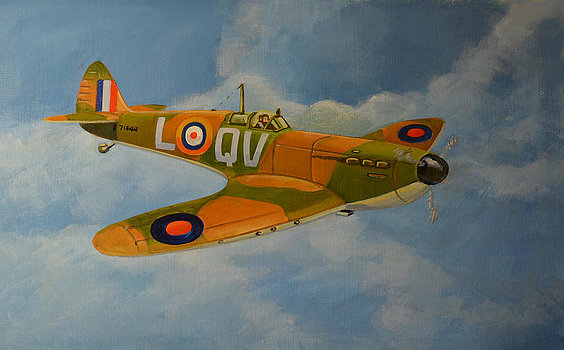 McLeod Murray. Истребитель Spitfire Mk.1a.