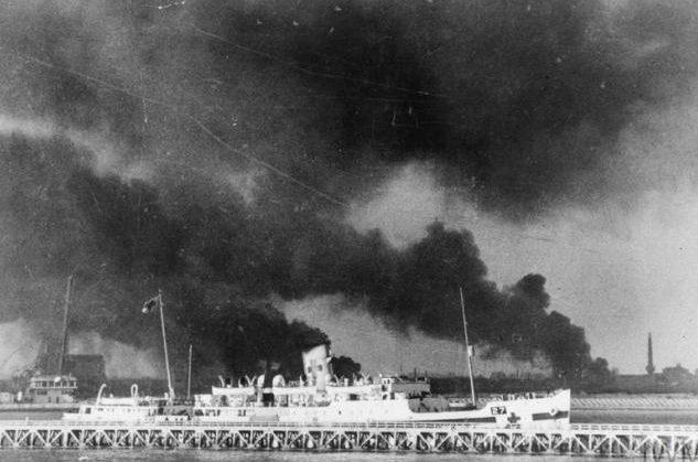 Вид на берег Дюнкерка. 29 мая 1940 г.