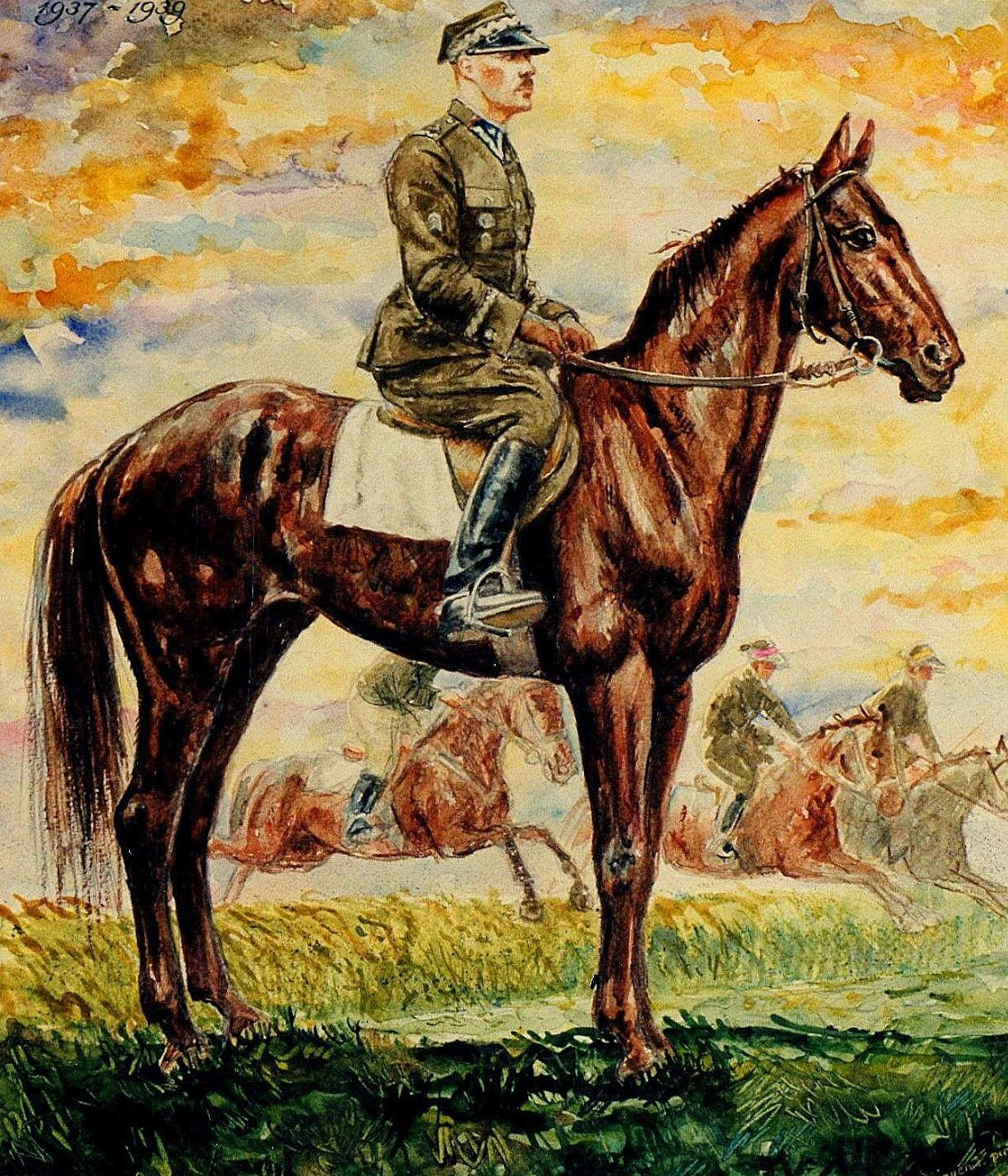 Walczak Zdzisław. Командир кавалерийской бригады Władysław Anders.