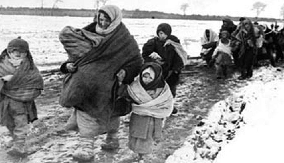 Эвакуация ленинградцев дорогой жизни. 1942 г.