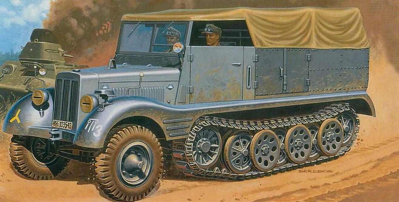Deredos Andrzej. Полугусеничный грузовик Sd.Kfz. 11.