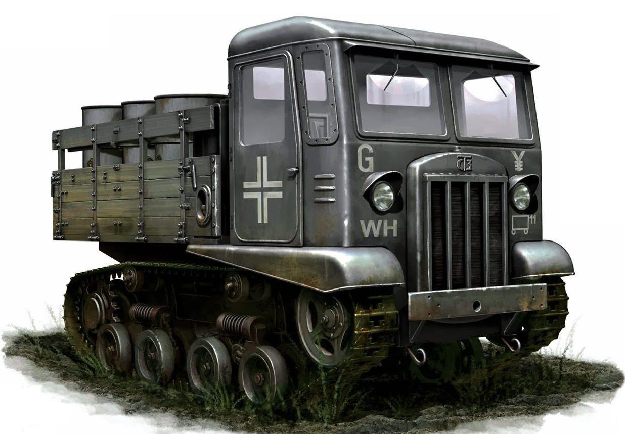 Auletta Vincenzo. Трофейный тягач СТЗ-5 «Сталинец».