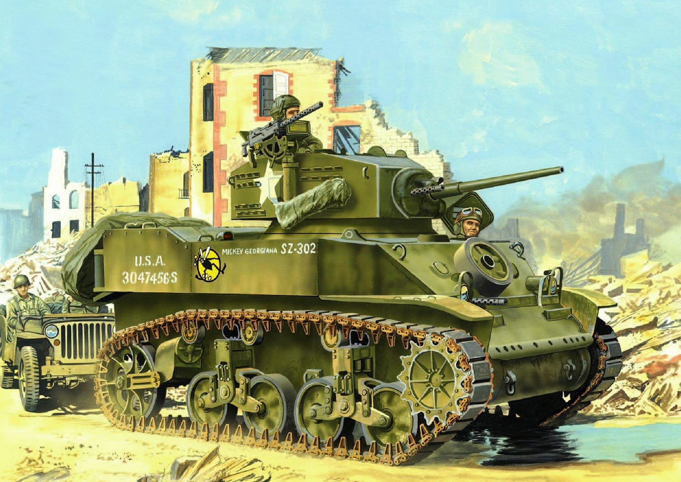 Greer Don. Танк M-5 « Stuart».