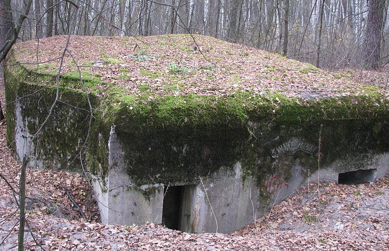 с. Горенка Киево-Святошинского р-на. ДОТ №502 Киевского укрепрайона, построенный в 1929-1932 годах.