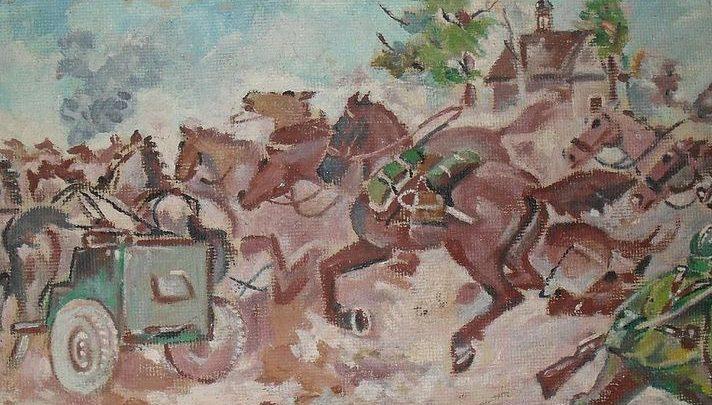 Gożdzik Krzysztof. Отвод лошадей с позиции.