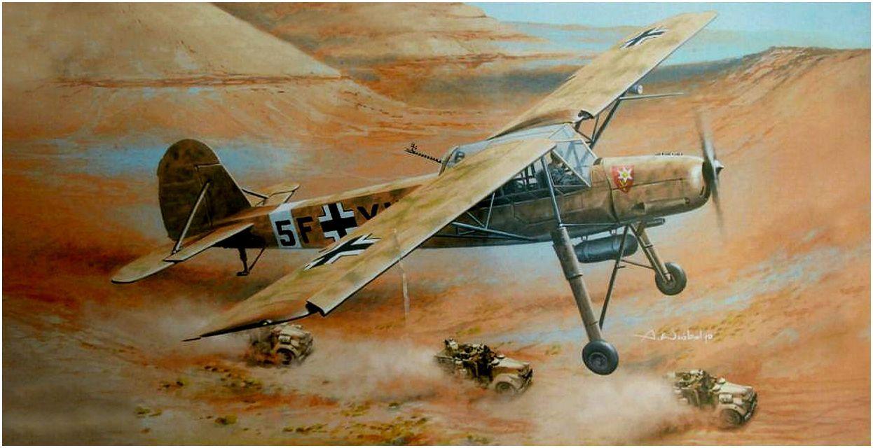Wróbel Arkadiusz. Самолет связи Fieseler Fi 156 C-3.