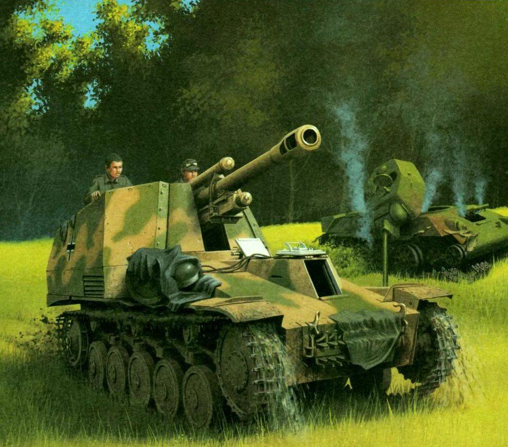 Wróbel Arkadiusz. САУ Sd.Kfz. 124 Wespe.