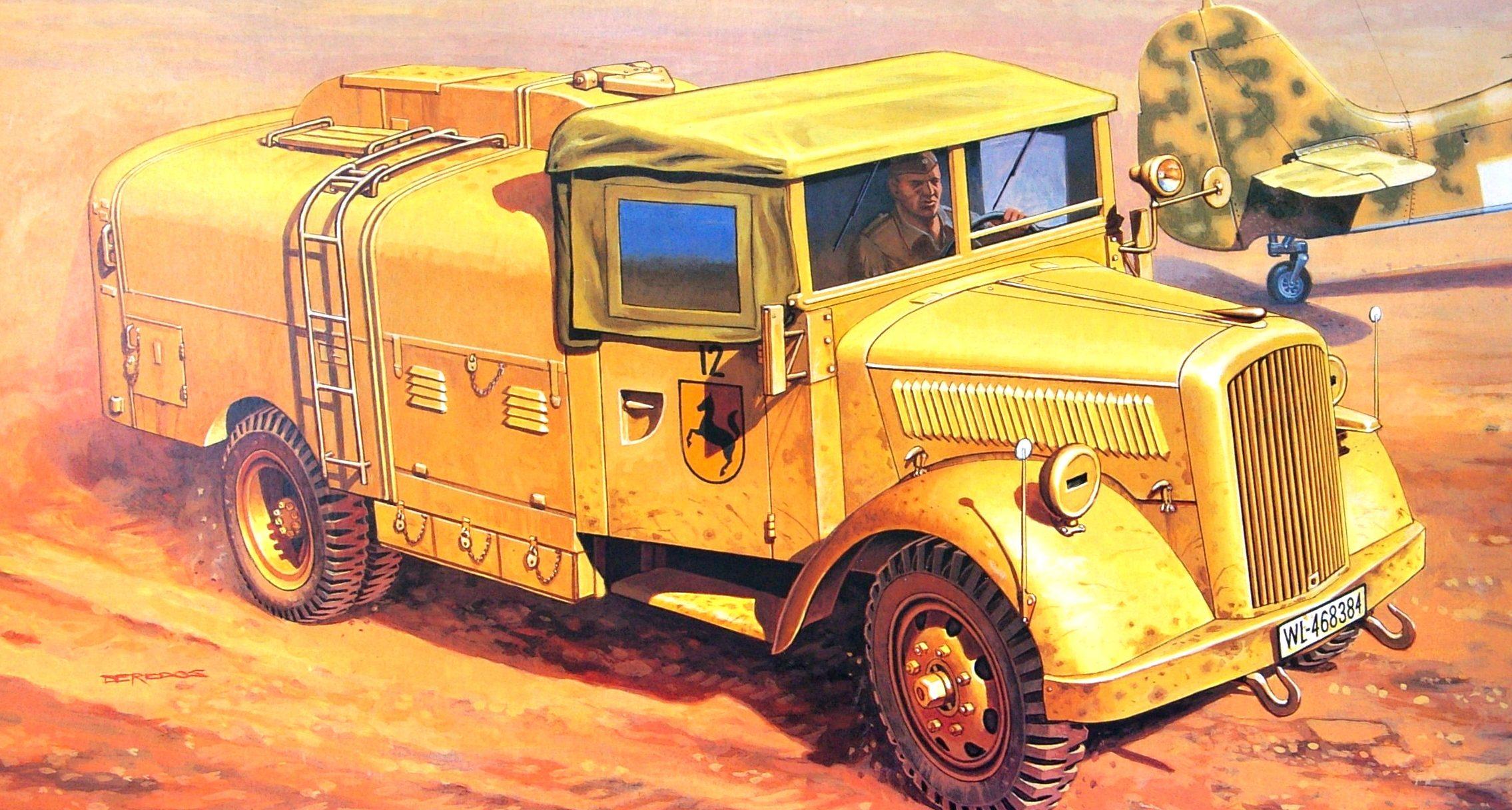 Deredos Andrzej. Самолетный заправщик Opel Blitz Kfz.385 Tankwagen.