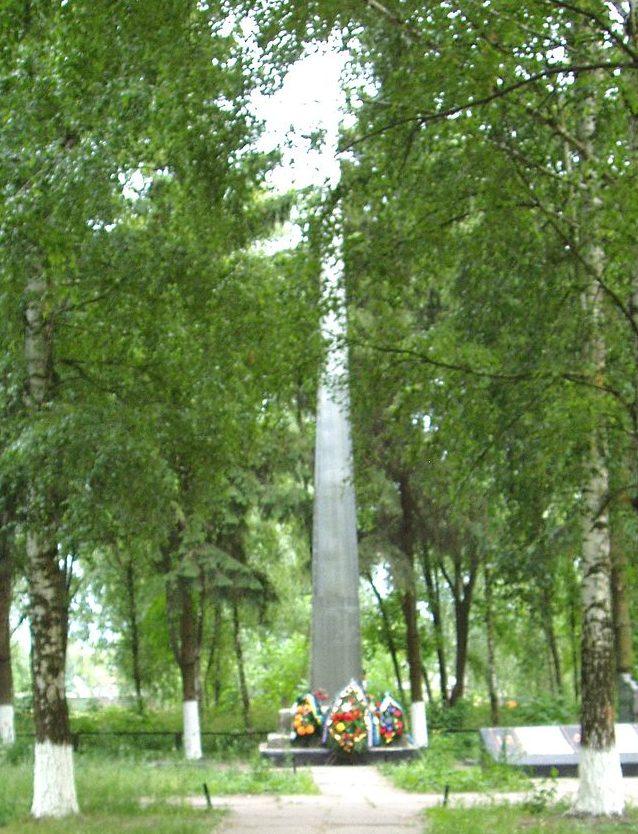 с. Глубокое Бориспольского р-на. Памятник по улице Ленина, установленный в 1968 году на братской могиле воинов, погибших в годы войны.